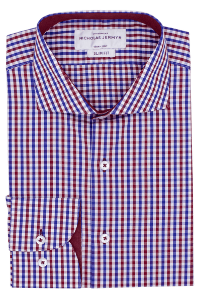 Lindberg Check - Slim Fit - Single Cuff