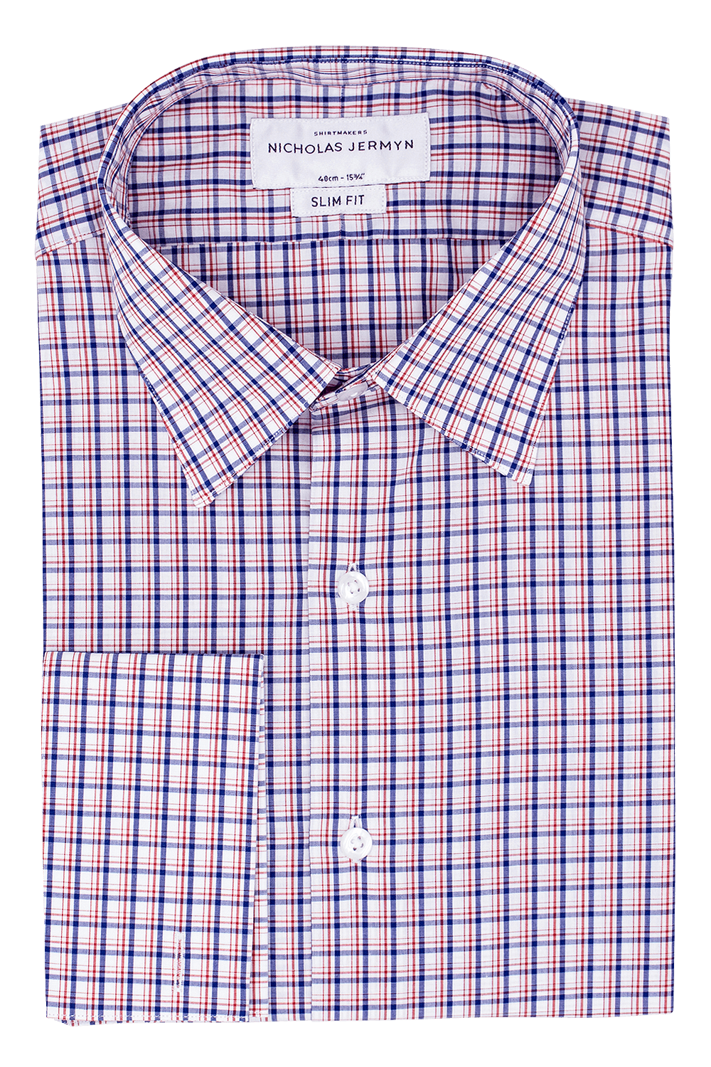 Merchant Check - Slim Fit - Double Cuff