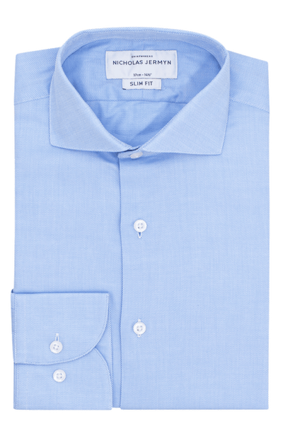 Noble Blue - Slim Fit - Single Cuff