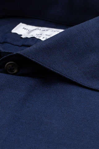 Barnes Navy - Slim Fit - Single Cuff