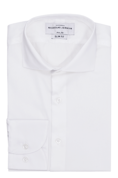 Mendel Plain - Slim Fit - Single Cuff