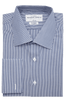 Carson Stripe Classic Double Cuff Men's Business Shirt
