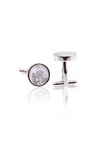Mother of Pearl Cufflinks - Silver