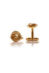 Textured Knot Cufflinks - Gold