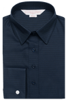 Diamond Jacquard Shirt Navy Women's Business Shirt