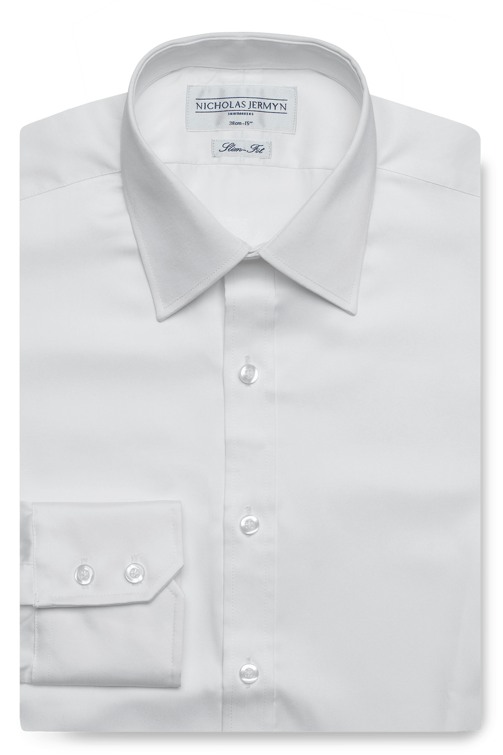 Luxury Weave Slim Fit White Single Cuff Mens Business Shirt