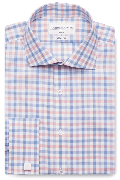 Maxwell Check - Slim Fit - Double Cuff