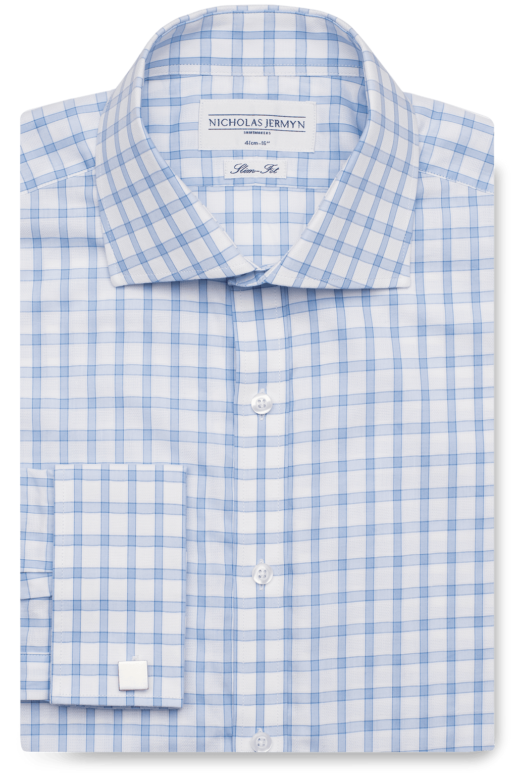 Windowpane - Slim-Fit - Double Cuff