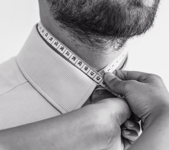 custom shirt measure collar