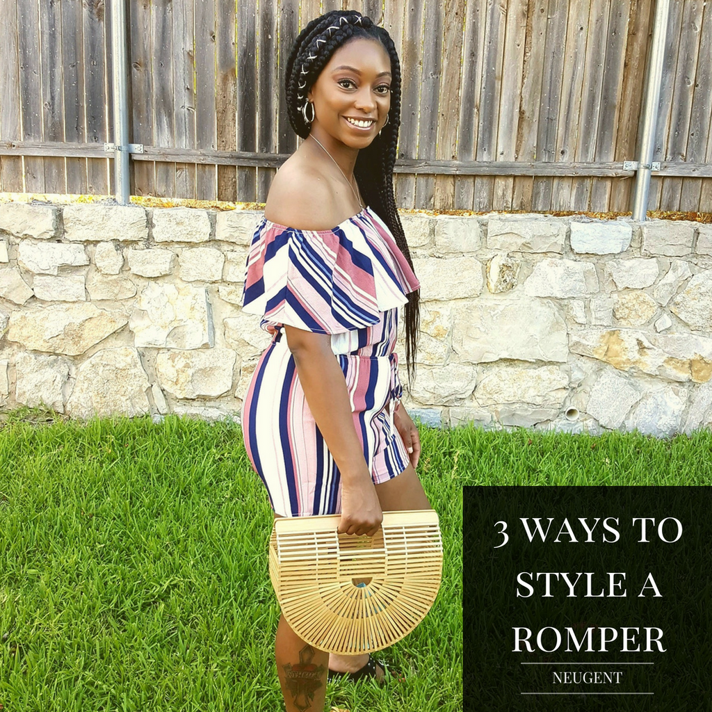3 WAYS TO STYLE A ROMPER