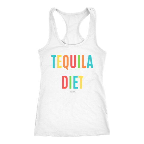 """TEQUILA DIET"" women's white t-shirt"