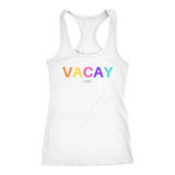 """VACAY"" pastel women's white t-shirt"