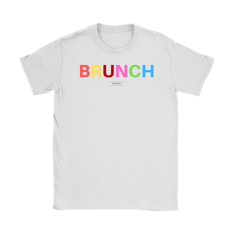 """BRUNCH"" white women's t-shirt"