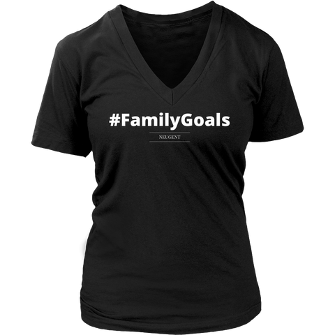 #FamilyGoals womens original black t-shirt