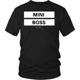 Mini boss classic black t-shirt unisex/mens adult sizes