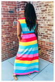"""PASTEL DREAMS"" rainbow maxi dress"