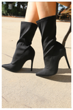 """BLACK PASSION"" stretchy ankle bootie"