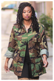 """LOVE AND WAR"" vintage oversized camo jacket (unisex)"
