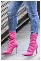 """PINK PASSION"" stretchy ankle bootie"