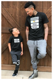 Raising a mini boss unisex/men's original black t-shirt