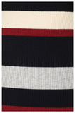 """BOSS LADY"" multicolor red striped bodycon sweater dress"