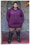 "PLUS SIZE ""NETFLIX AND CHILL"" hoodie/dress"
