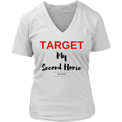 Target my second home womens classic white t-shirt