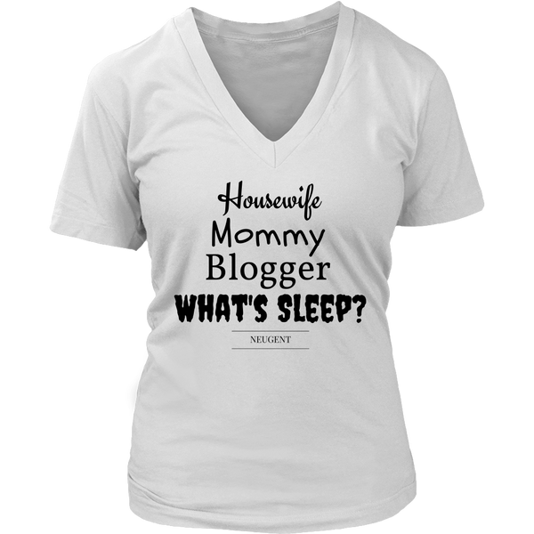 Housewife mommy blogger whats sleep womens classic white t-shirt