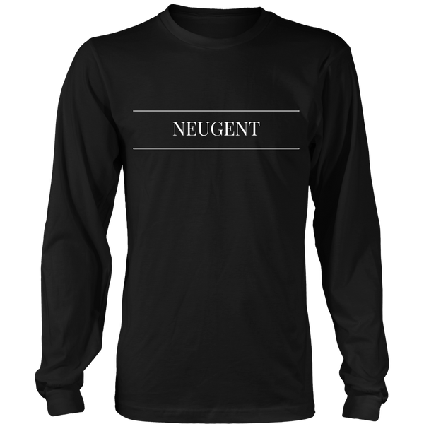 Neugent logo unisex/mens original black long sleeve t-shirt