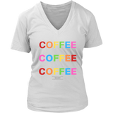 """COFFEE COFFEE COFFEE"" in white"