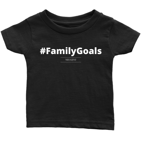 #FamilyGoals original black t-shirt kids sizes newborn-large
