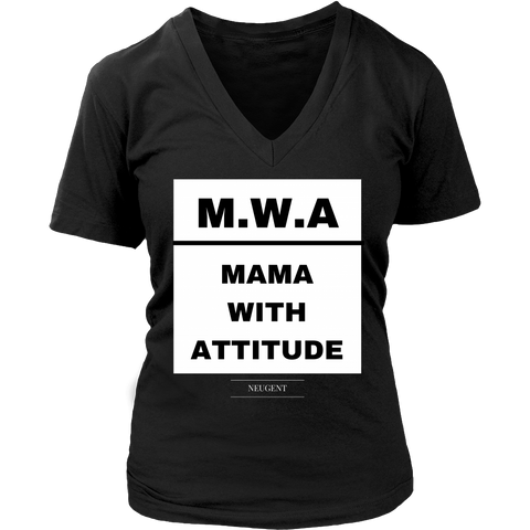 M.W.A mama with attitude original black t-shirt