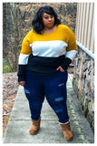 "PLUS SIZE ""HANDLE THESE CURVES"" jegging jeans"