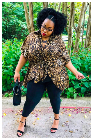 """KITTY KAT"" leopard print top/dress"