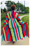 "PLUS SIZE ""CANDY"" colorful maxi dress"