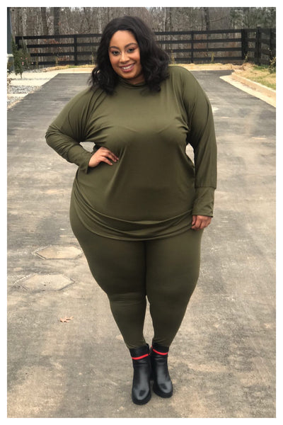 "PLUS SIZE ""OH SO COMFY"" two piece set"