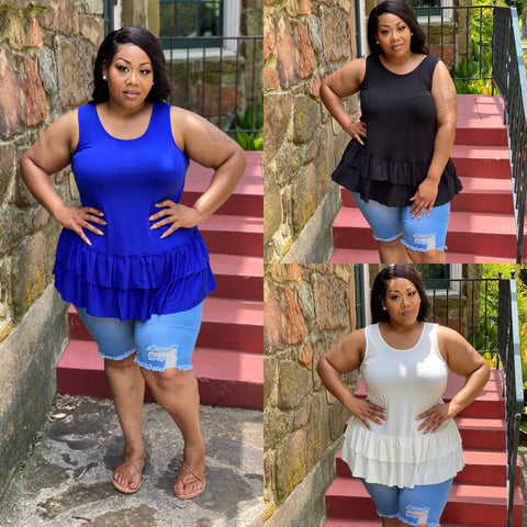 "PLUS SIZE ""A LITTLE RUFFLE"""