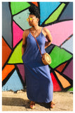 """KEEP IT SIMPLE"" chambray denim maxi dress"