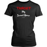 Target my second home womens original black t-shirt
