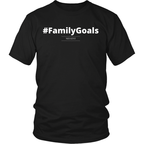 #FamilyGoals unisex/mens original black t-shirt