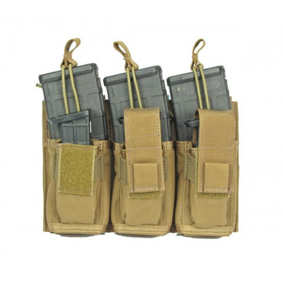 Modular (MOLLE) WALLABY Rifle & Pistol Magazine Pouch, Triple