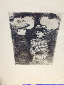 Jean Louis Forain French Impressionist Etching