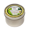 Metal Tin Soy Candle Lemongrass 16oz-Bedrock Tree Farm Fir Needle Products