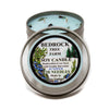 Metal Tin Soy Candle Juniper 16oz-Bedrock Tree Farm Fir Needle Products