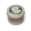 Metal Tin Soy Candle Fir Needle Burgundy 2oz-Bedrock Tree Farm Fir Needle Products