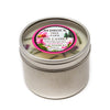 Metal Tin Soy Candle Beach Rose Fir 4oz-Bedrock Tree Farm Fir Needle Products