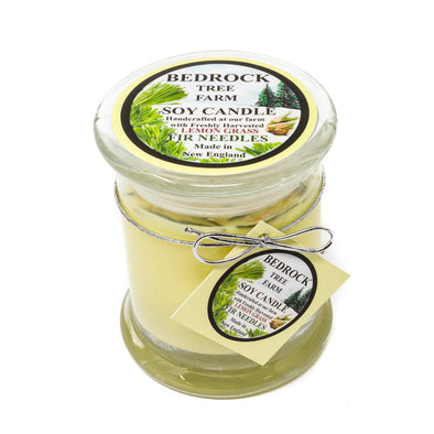 Glass Pillar Jar Soy Candle Lemongrass 12oz - Bedrock Tree Farm Fir Needle Products