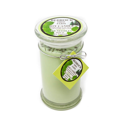 Glass Pillar Jar Soy Candle Shiso 21oz - Bedrock Tree Farm Fir Needle Products