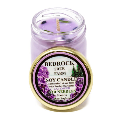 Glass Mason Jar Soy Candle Lavender 1.25oz - Bedrock Tree Farm Fir Needle Products