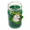 Glass Mason Jar Soy Candle Fir Needle Green 16oz - Bedrock Tree Farm Fir Needle Products